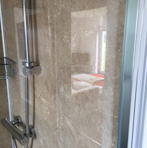 Clean Shower Enclosure